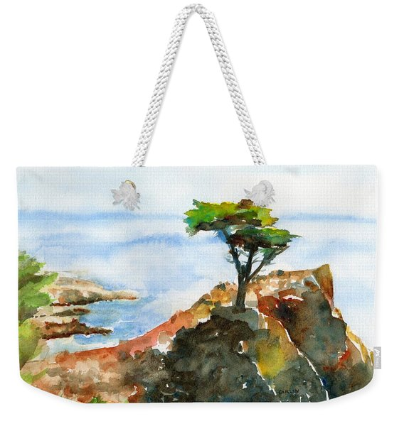 Lone Cypress Pebble Beach Fog Weekender Tote Bag