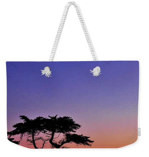 Lone Cypress Tree At Pebble Beach Weekender Tote Bag