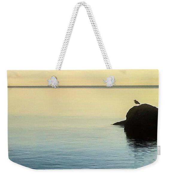 Lone Gull Weekender Tote Bag