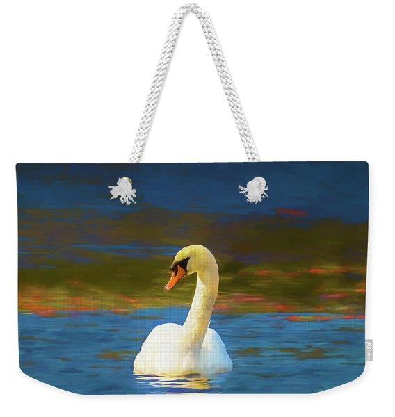 Lone Mute Swan. Weekender Tote Bag