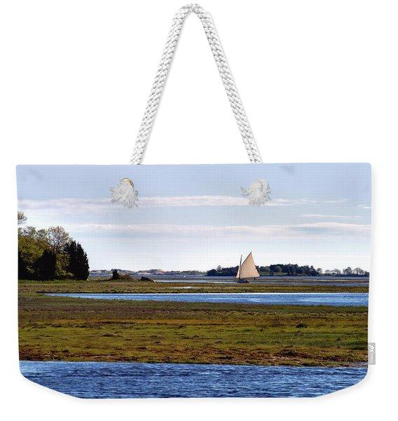 Lone Sail Weekender Tote Bag