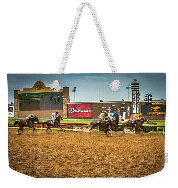 Lone Star Park Grand Prairie Texas Weekender Tote Bag