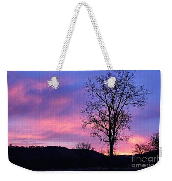 Lone Tree At Dawn Weekender Tote Bag