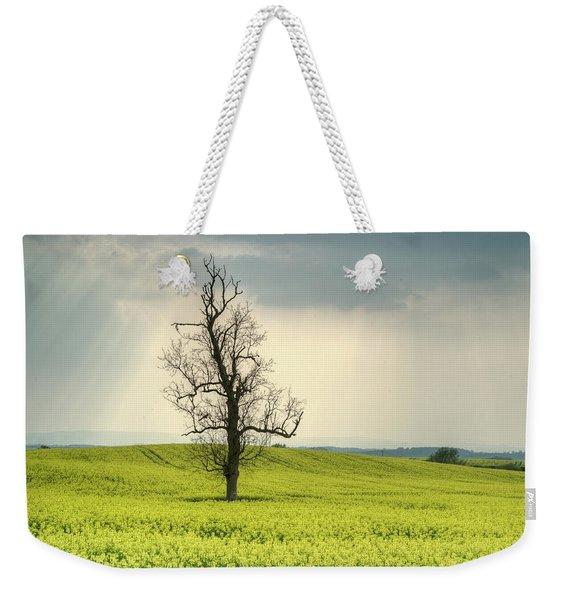 Lone Tree In Rape Field 2 Weekender Tote Bag