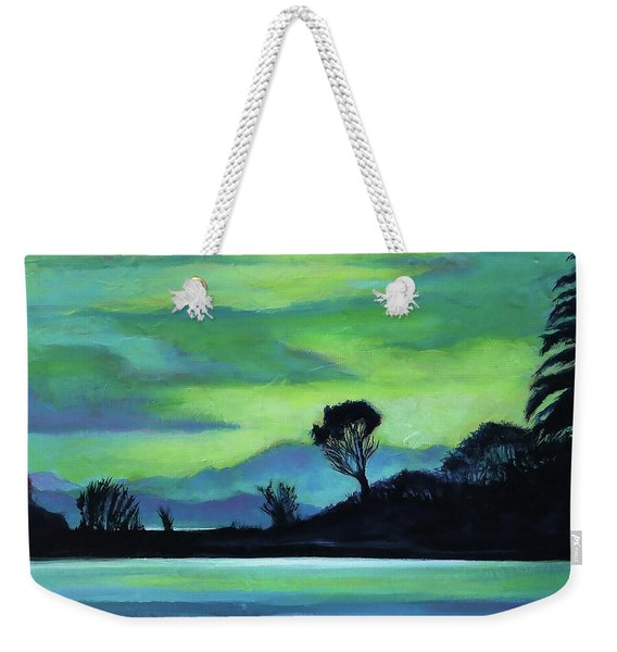 Lone Tree On The Salish Sea Weekender Tote Bag