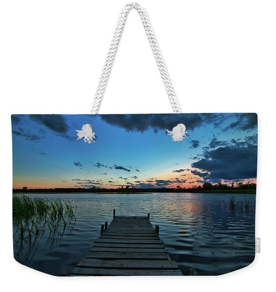 Lonely Dock Weekender Tote Bag
