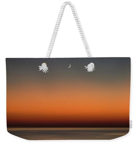 Lonely Moon Weekender Tote Bag