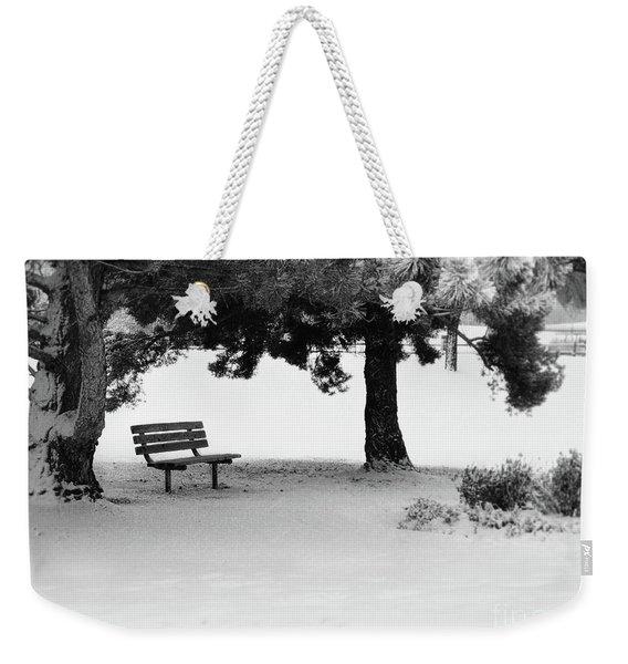 Lonely Park Bench Weekender Tote Bag