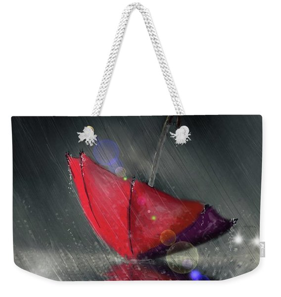 Lonely Umbrella Weekender Tote Bag