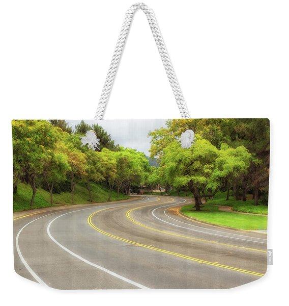 Long And Winding Road Weekender Tote Bag