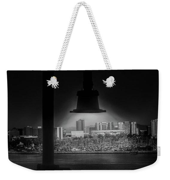 Long Beach Noir Weekender Tote Bag