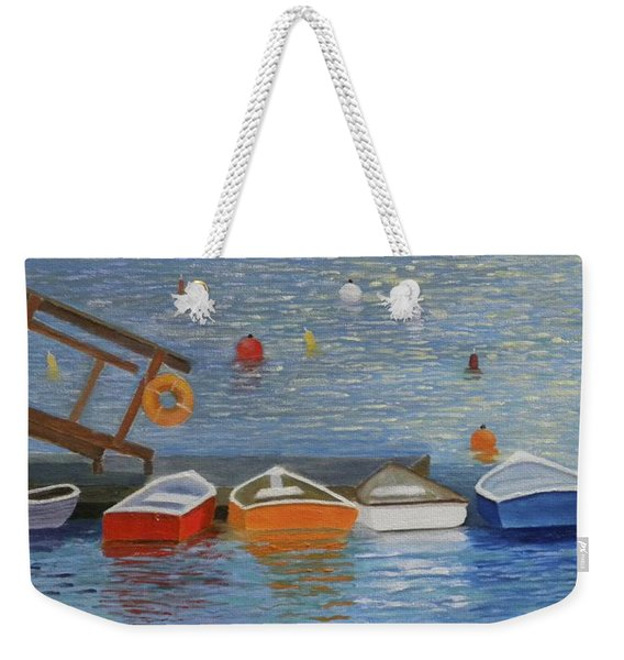 Long Cove Dock Weekender Tote Bag