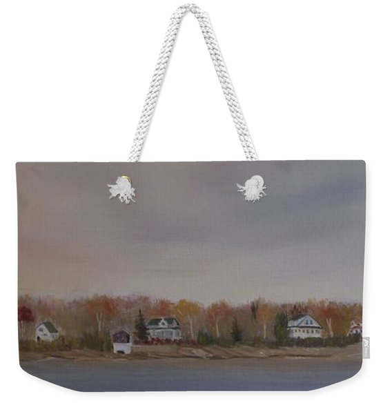 Long Cove Fall Weekender Tote Bag