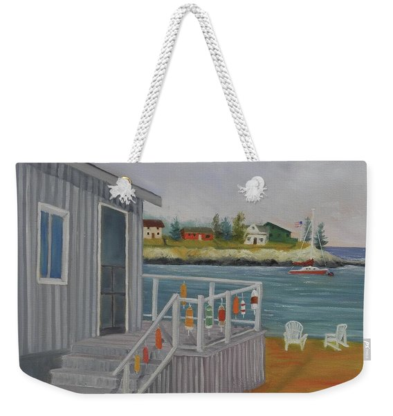 Long Cove View Weekender Tote Bag