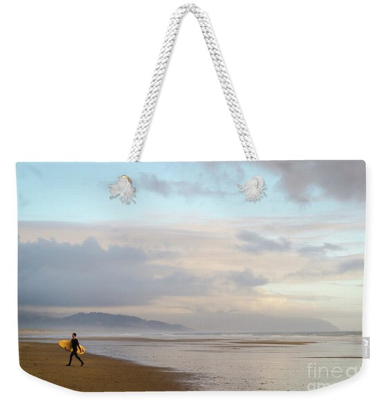 Long Day Surfing Weekender Tote Bag