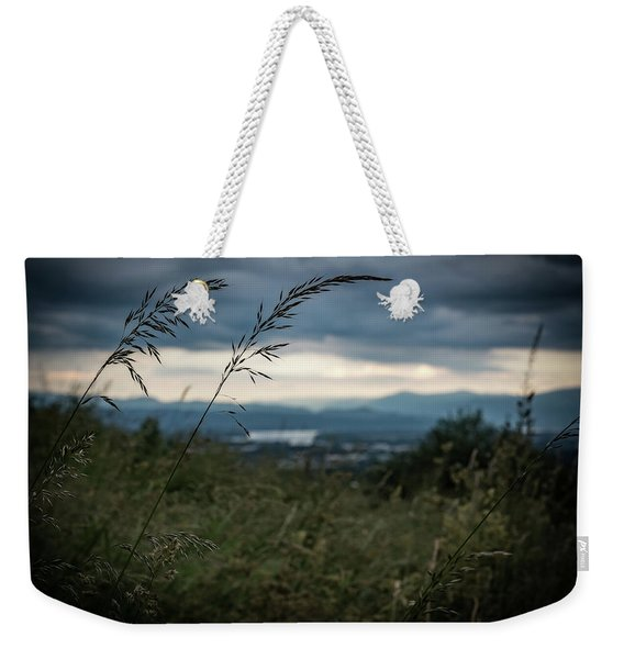 Long Gass Blowing In The Wind Weekender Tote Bag