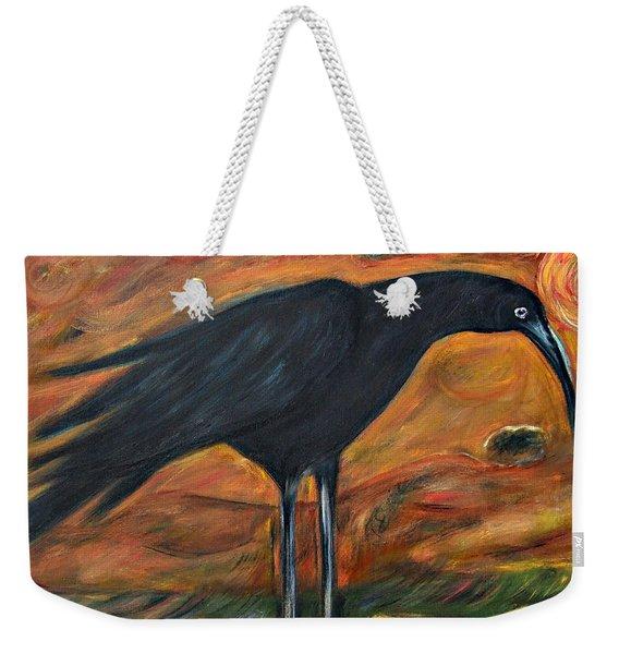 Long Legged Crow Weekender Tote Bag
