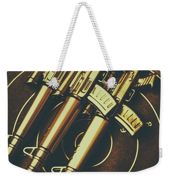 Long Range Tactical Rifles Weekender Tote Bag