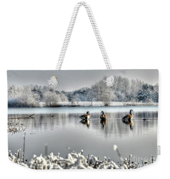 Geese At Long Run Pond Weekender Tote Bag