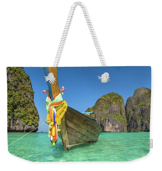 Weekender Tote Bag featuring the photograph Long Tail Bot by Benny Marty