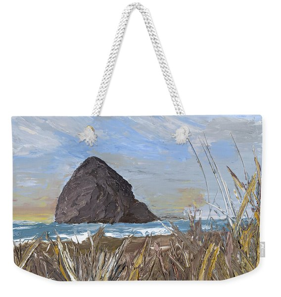 Longing For The Sounds Of Haystack Rock Weekender Tote Bag