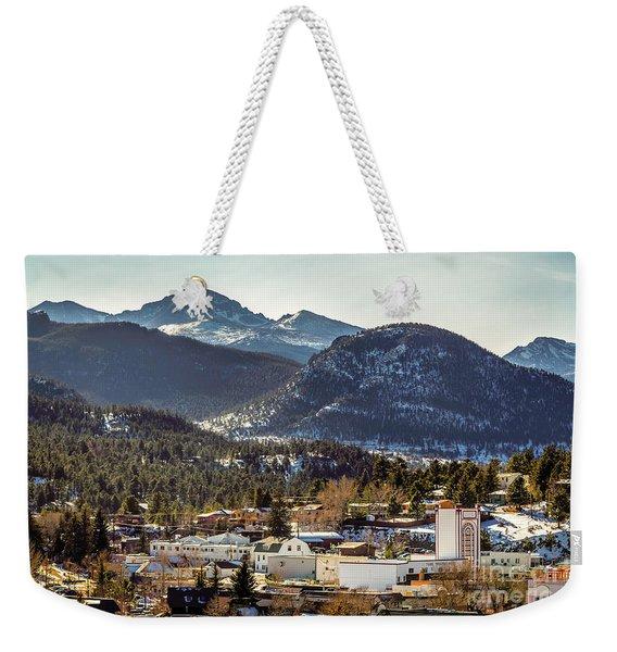 Longs Peak From Estes Park Weekender Tote Bag