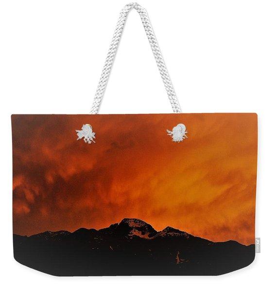 Longs Peak Sunset Weekender Tote Bag