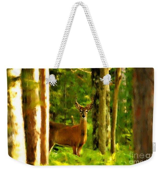 Look Deep Into Nature Weekender Tote Bag