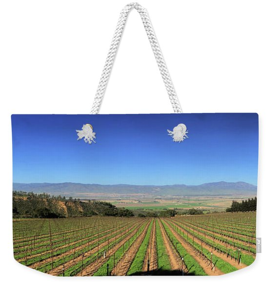 Looking Across The Salinas Valley From The Hahn Family Tasting Room Weekender Tote Bag