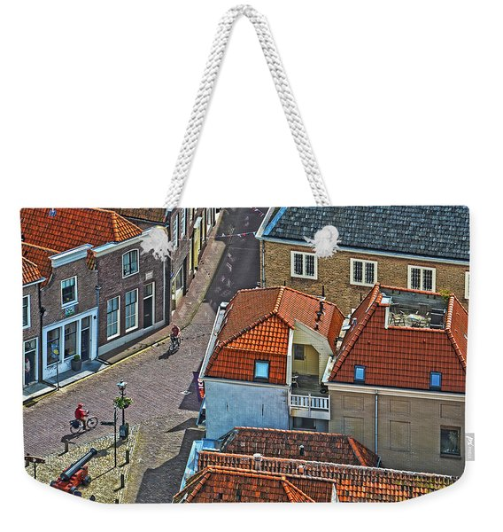 Looking Down From The Church Tower In Brielle Weekender Tote Bag
