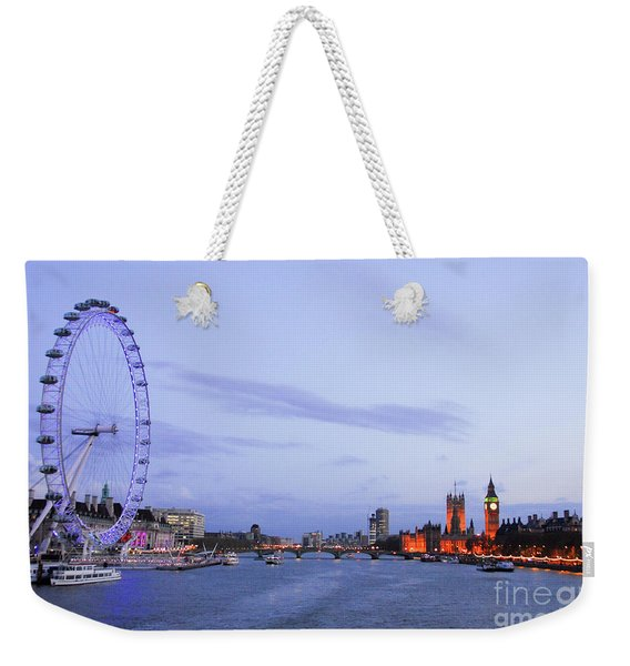 Looking Down The Thames Weekender Tote Bag