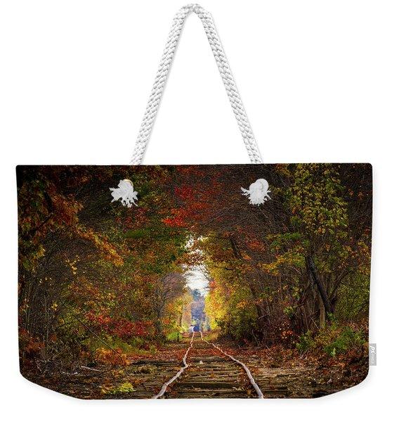 Looking Down The Tracks Weekender Tote Bag