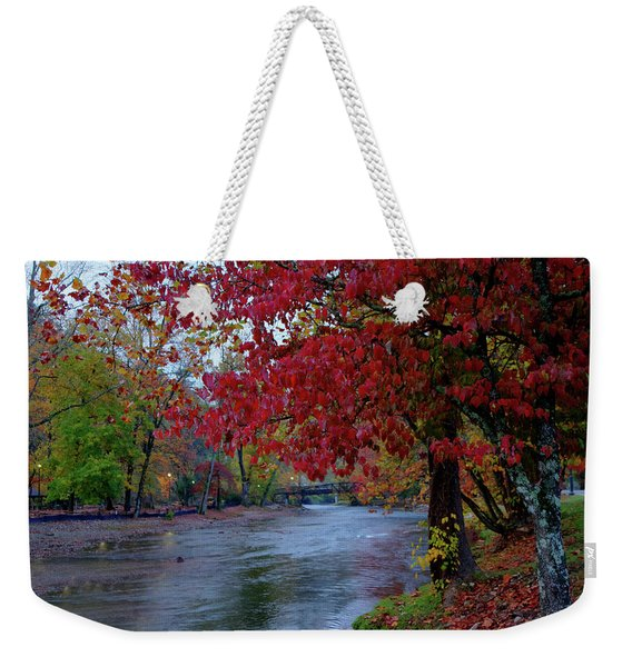 Looking Downstream Weekender Tote Bag