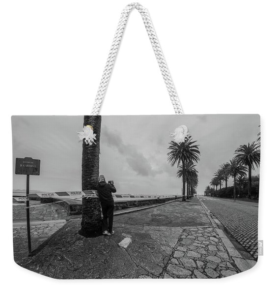 Looking Into The Weather Weekender Tote Bag
