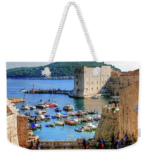Looking Out Onto Dubrovnik Harbour Weekender Tote Bag