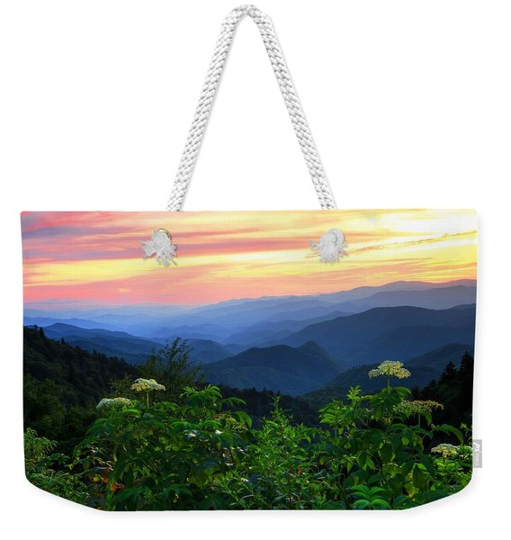Looking Out Over Woolyback On The Blue Ridge Parkway  Weekender Tote Bag