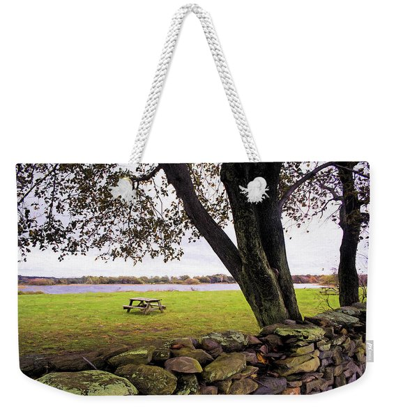 Looking Over The Wall Weekender Tote Bag