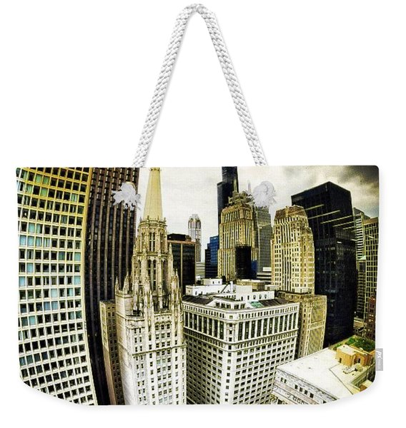 Looking Towards The Southwest And The Sears Tower Weekender Tote Bag