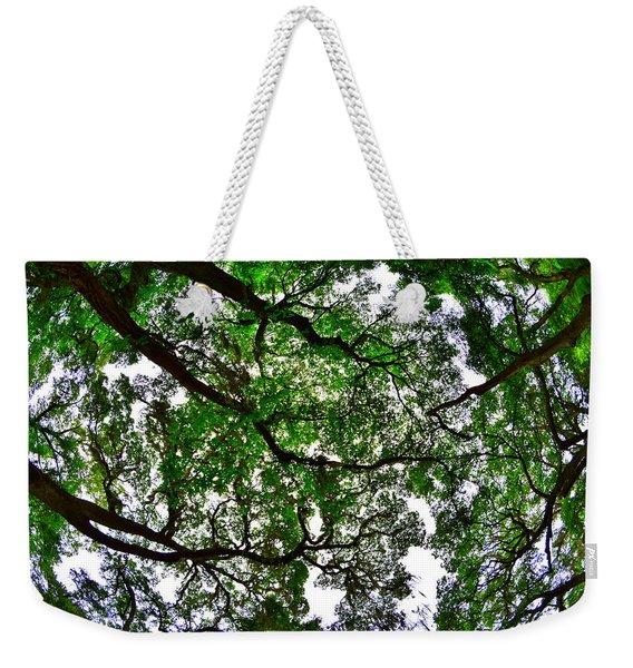 Looking Up The Oaks Weekender Tote Bag