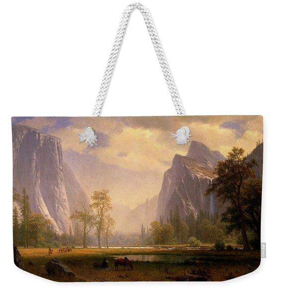 Looking Up The Yosemite Valley  Weekender Tote Bag