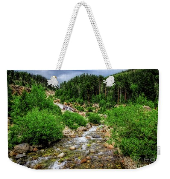 Looking Upstream Weekender Tote Bag