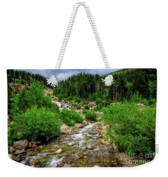 Looking Upstream Weekender Tote Bag