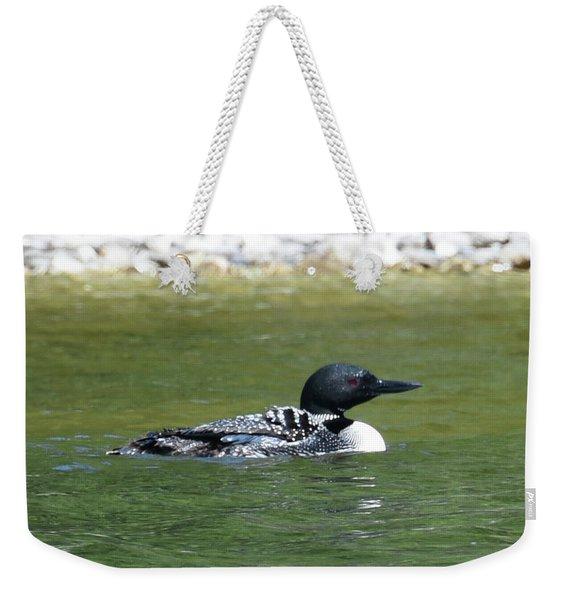 Loon In The Afternoon Sun Weekender Tote Bag