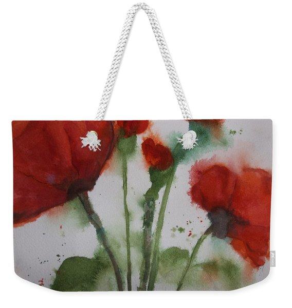 Loose Poppies Weekender Tote Bag