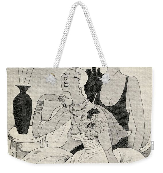 Lorelei And Dorothy Illustration By Weekender Tote Bag