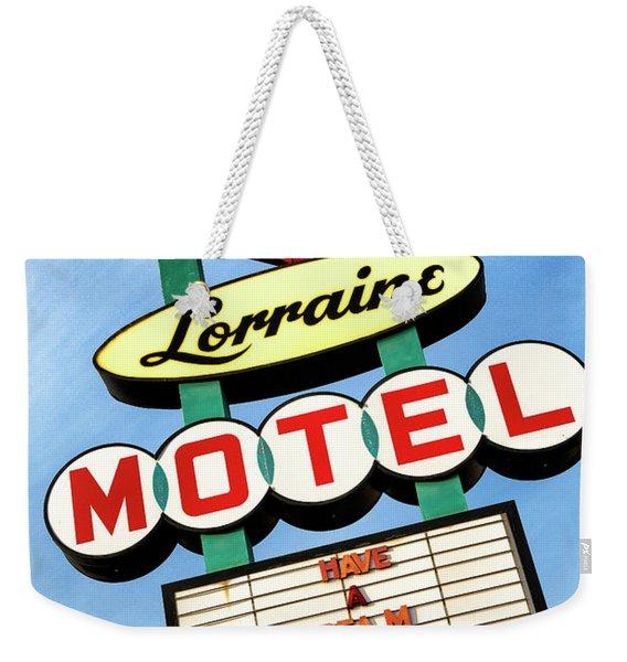 Lorraine Motel Sign Weekender Tote Bag
