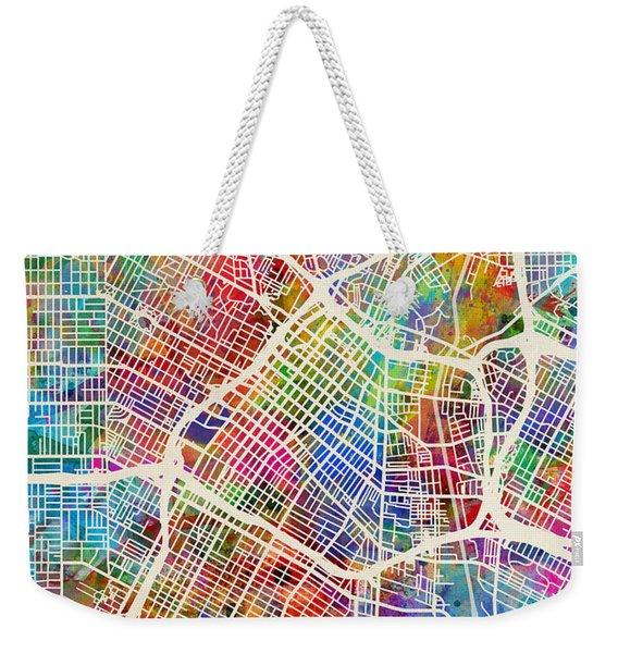 Los Angeles City Street Map Weekender Tote Bag