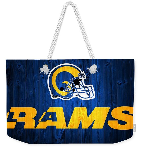 Los Angeles Rams Barn Door Weekender Tote Bag