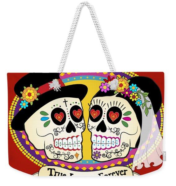 Los Novios Sugar Skulls Weekender Tote Bag
