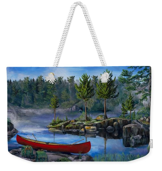 Lost In The Boundary Waters Weekender Tote Bag